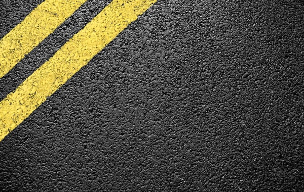 fresh paved road