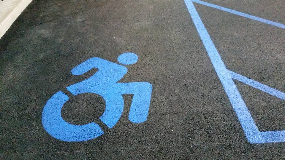 handicap spot striping