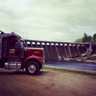 truck dam
